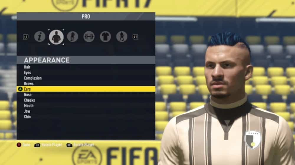 FIFA 17 Pro Clubs blue green hair